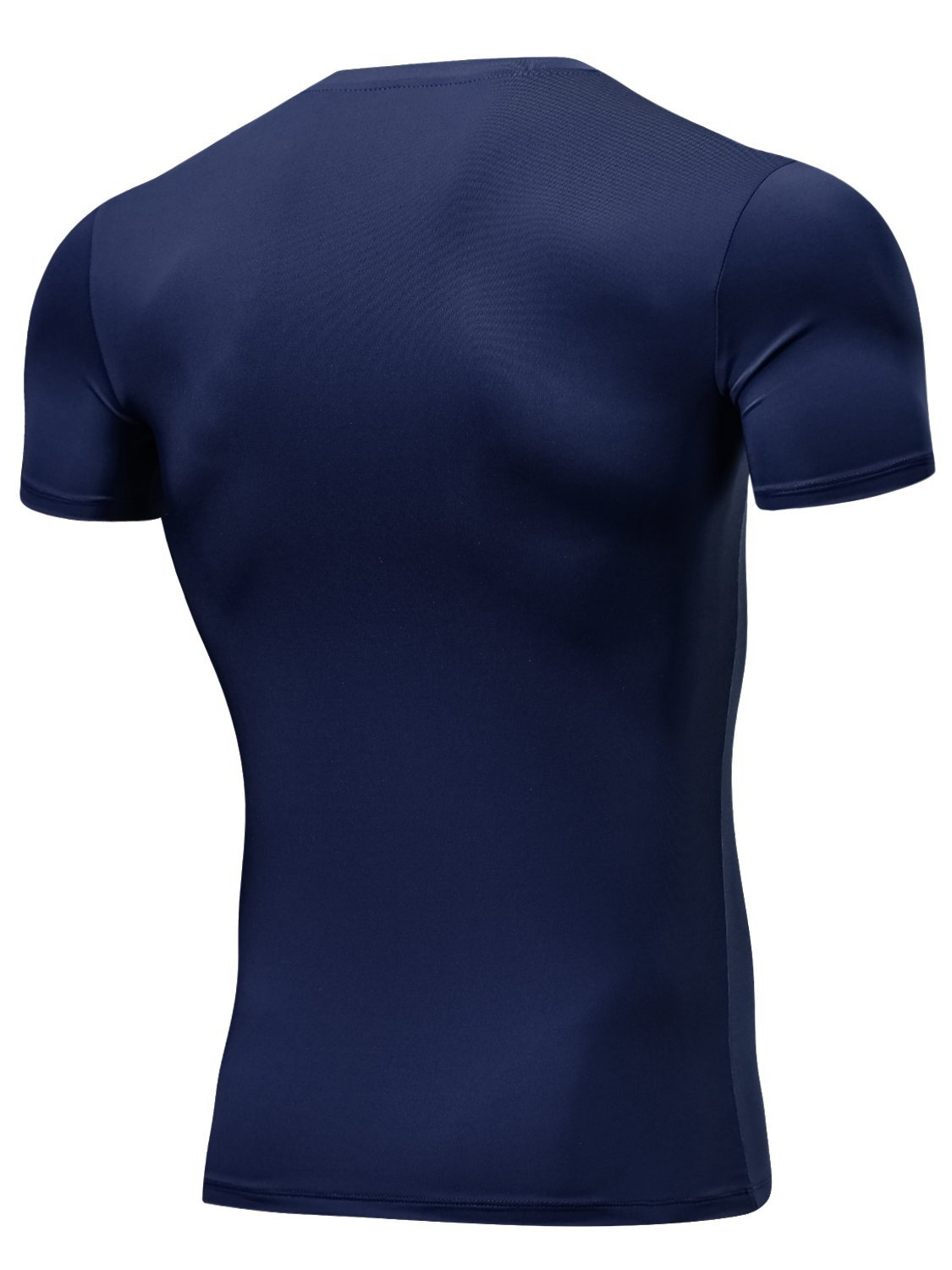 Lavento Mens Compression Shirts Cool Dry Short-Sleeve Workout Undershirts