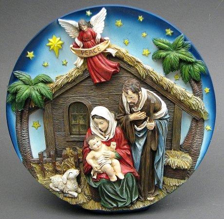 IWGAC Christmas Holiday Party Nativity Scene Plate LED