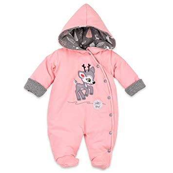 Koala Baby Winter Overall M/ädchen Farbe: rosa 62 Baby Schneeanzug mit Kapuze f/ür Neugeborene /& Kleinkinder Gr/ö/ße: 3 Monate