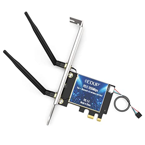 EDUP Tarjeta de Red inalámbrica PCIE WiFi AC1200Mbps ...