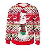 Womens Christmas Clothes,BCDshop Ladies Alpaca Sweatshirt Pullover Tops Long Sleeve(Red,L)