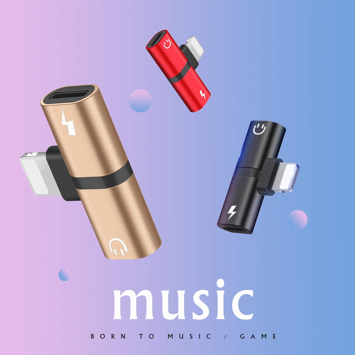 Car Accessories for iPhone Charger Cable Audio and Charge Adapter 2 in 1 Dongle Headphone Music Splitter Hamdol for iPhone 7 Adapter Headphone Jack Adapter for iPhone 8// xr//xs max Accessories