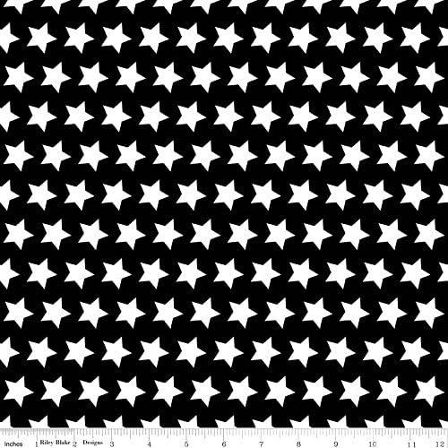 Tela de estrellas en tela negra RBF481 - 0,5 m - 100% STAR - tela ...