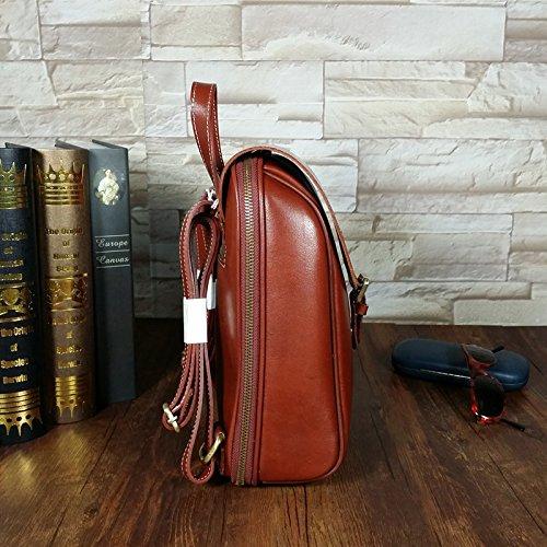 DJB/pflanzlich gegerbtes Leder Rucksack Leder Damen Tasche College Wind reinigen Wildleder Schultertasche aus Leder