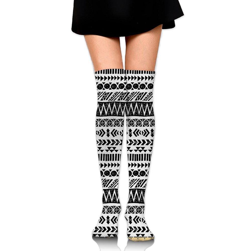 TRUSTINEEgyl Woman Trippy Mystic Aztec Culture Figure Antique Aged Folk Old Bohemian College Style Warm Crochet Socks