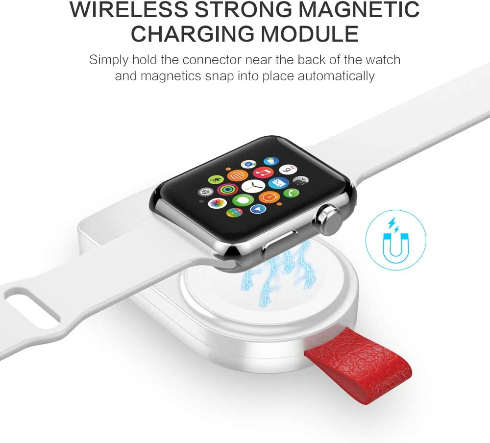 FLOVEME Portable Magnetic iWatch Wireless Charger Compatible for Apple Watch Series 4 3 2 1 44mm 40mm 42mm 38mm