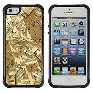 "Pulsar iFace Series Tpu silicona Carcasa Funda Case para Apple iPhone SE / iPhone 5 / iPhone 5S , Partidos Arte Fuego profundo Metáfora Significado"""