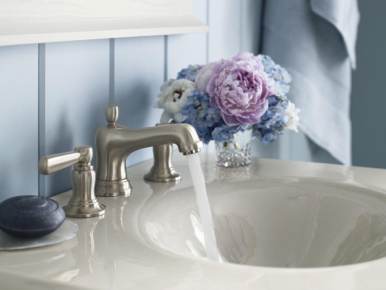 KOHLER K-10577-4-CP Bancroft Widespread Lavatory Faucet, Polished ...