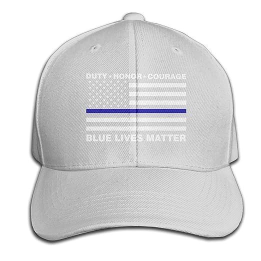 Nak50 Cap Blue Lives Matter Police Blue Line Us Flag Ash Adjustable  Casquette Hat for Men Women ad4962bd8ee