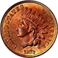 1872 P Indian Cents Cent MS65 PCGS RD