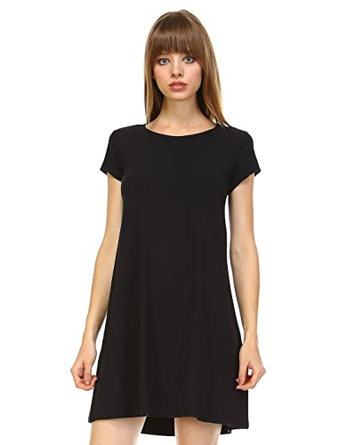 Elain & J Luxury Long T Shirt Dress Tunic Top With Pocket