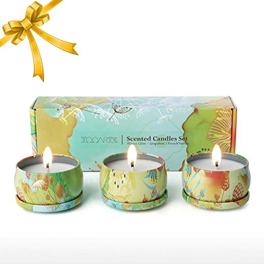 Tooarts Set de 3 Velas Aromáticas Perfumadas de Brillo ...
