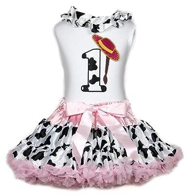 Sombrero de vaquera 1st cumpleaños camiseta de cordones Rosa ...