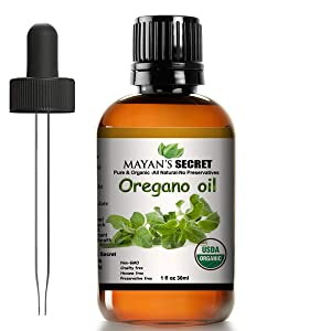 Mayan's Secret USDA Certified Organic Oregano Essential Oil (100% Pure & Natural - UNDILUTED) Therapeutic Grade - Huge 1oz Bottle - Perfect for Aromatherapy, Relaxation, Skin Therapy & More