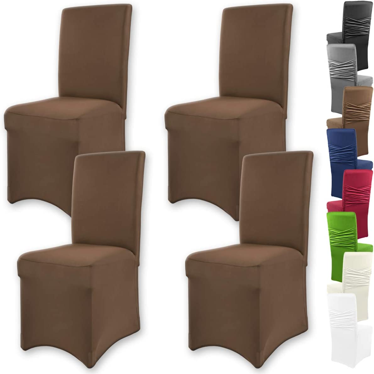 Ajuste bi-el/ástico con Junta Oeko-Tex Standard 100:Confianza verificada Gr/äfenstayn/® Funda para sillas el/ásticas Victoria respaldos Redondos y angulares Azur