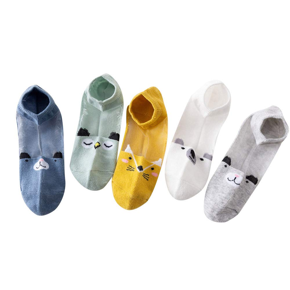 ❤️ Mealeaf ❤️ 5Pair Baby Boys Girls Socks Cartoon Floor Socks Anti-Slip Baby Step Socks