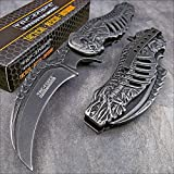 Tac-force Spring Assisted Open Skull Skeleton Claw Folding Blade Pocket Knife