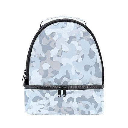 3ca5eca42dd2 Amazon.com: Desert Camo Snow Camouflage Double Lunch Bags, Lunch Box ...