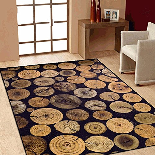 Cheap Wolala Home Abstract Tree Wood Design Non-slip Rug Multi Size Customized Rug Bedside Area Rug Living Room Coffee Table Bedroom Carpet(4'6×6'6, Multi )