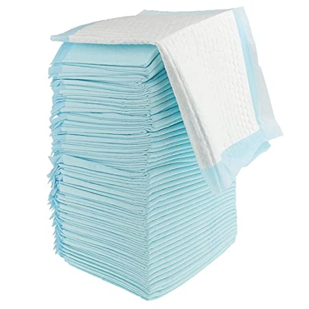 Segolike Disposable Incontinence Bed Pads Waterproof Mattress Pad Protector (One Size, Blue)