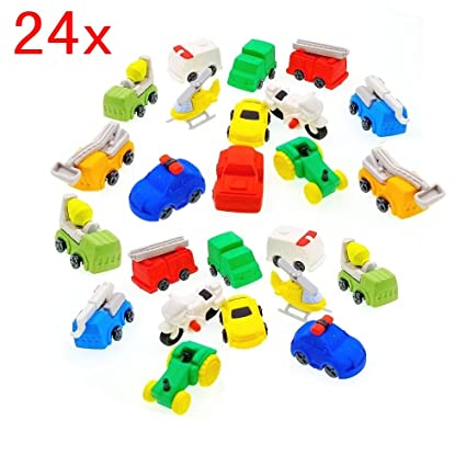 JZK 24 x Gomas de borrar de lápiz mini coche juguete ...