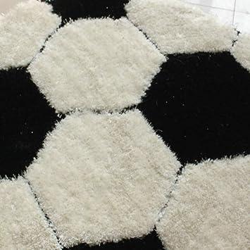 Amazon.de: L&WB Fußball-Teppich, Junge Kind Zimmer Rutschfeste Runde ...