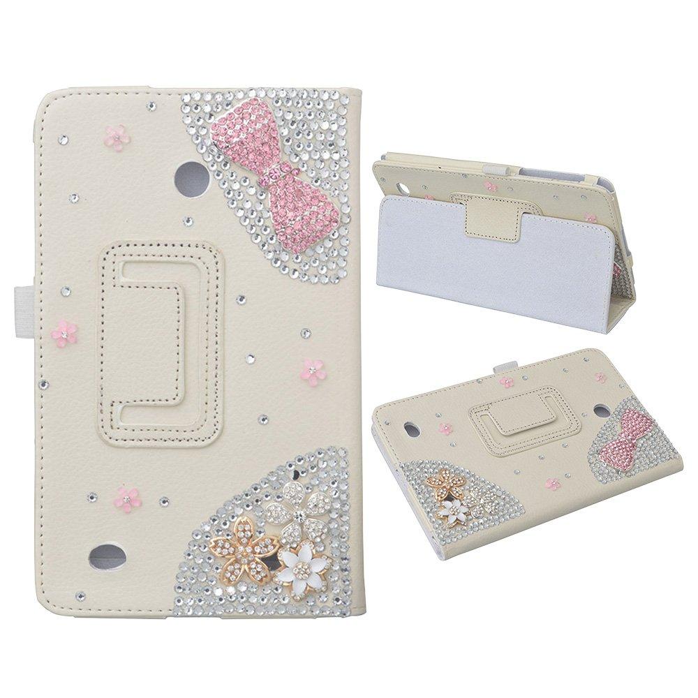 EVTECH (TM) 3D Handmade cas de Bling pour LG G Pad Case 8, 0 intelligente Shell - Ultra Slim Cover avec Auto / Veille Feature pour LG G Pad V480 8 pouces Android Tablet