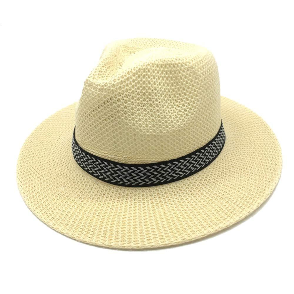 Lfives-cap Sombrero de Paja de Fedora para Hombre Tejido a Mano ...