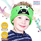 Snuggly Rascals (v2) Kids Headphones - Headphones for Kids - Comfortable, Adjustable and Volume Limited - Great for Travel & Children's Tablets and Smartphones - for Girls and Boys - Fleece - Monster