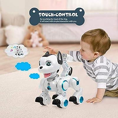 Juguetes K10 Robot Inteligente de Control Remoto para Perros Robot Programable Touch-Sense Music Song Toy para niños