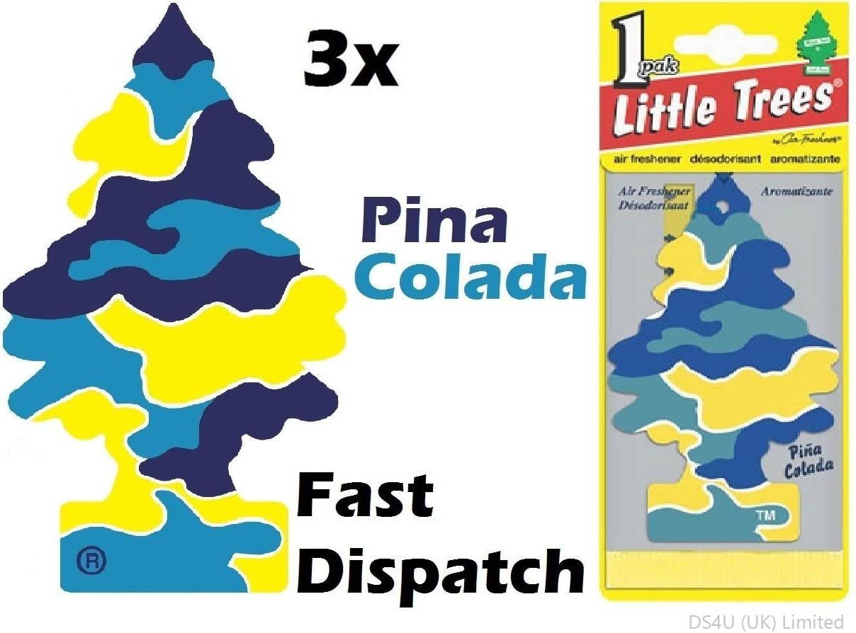 Magic Tree Little Tree Pina Colada Duft Kfz Lufterfrischer 3 Stück Auto