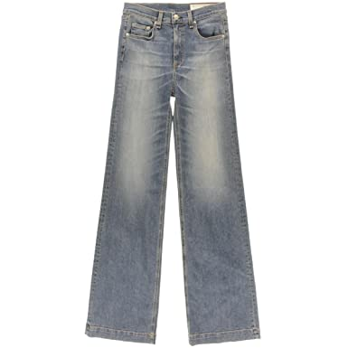2bd1a878cf218 Image Unavailable. Image not available for. Color  Rag   Bone Women s Justine  Denim Classic Rise Wide Leg ...