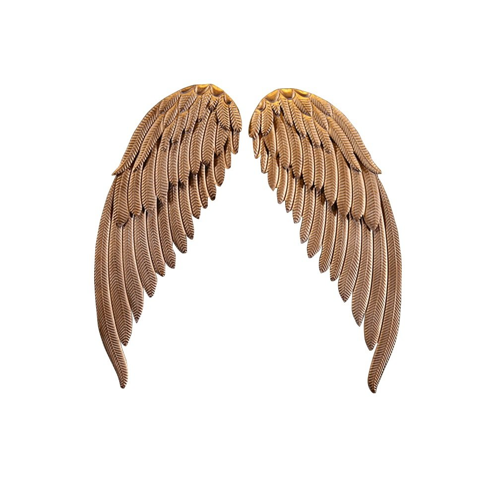 Golden Wings Wall Pendant / Industrial Wind Mural / Wall Wall Wings / Wrought Iron Wings Retro Pendant / Bar Internet Cafe Wall Mounted / Bar Wall Wrought Iron Wings / Wall Shooting Props / by Wall Hanging