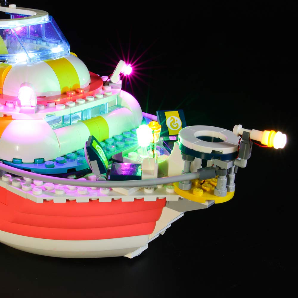 Not Include The Lego Set Compatible with Lego 41381 Building Blocks Model BRIKSMAX Led Lighting Kit for Rescue Mission Boat