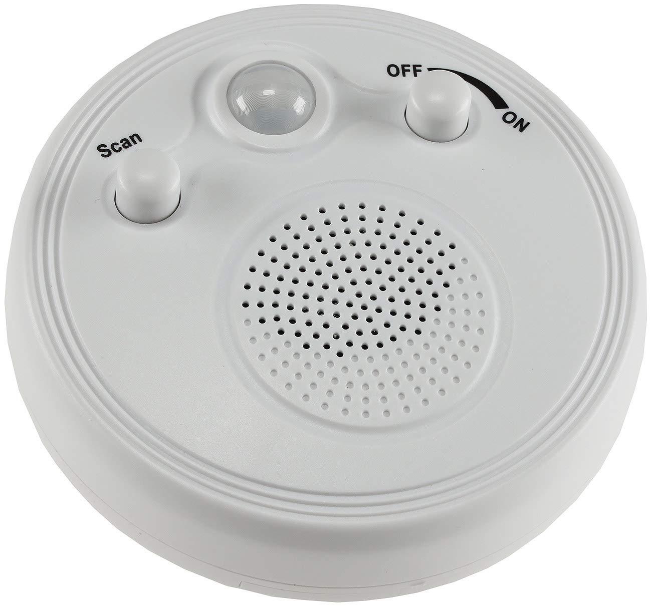 ChiliTec 21889 Wand Decken Radio mit Bewegungsmelder 360/° Sensor /Ø 95mm Batterie 3x AA Wei Wei/ß