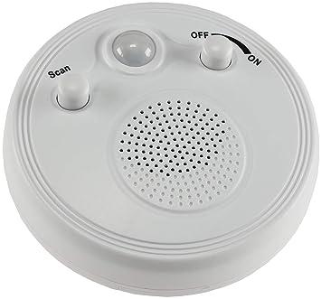 ChiliTec 21889 Wand Decken Radio mit Bewegungsmelder 360° Sensor Ø 95mm  Batterie 3x AA Wei Weiß