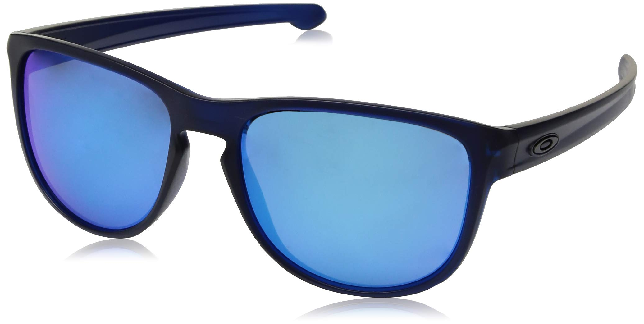 Oakley Men's Sliver R Non-Polarized Iridium Rectangular Sunglasses, Matte Translucent Blue, 57 mm
