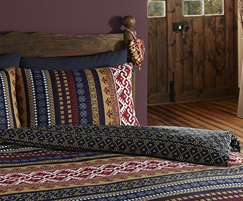 De Cama Ethnic Indian Print Bedding Quilt Cover Bed Set