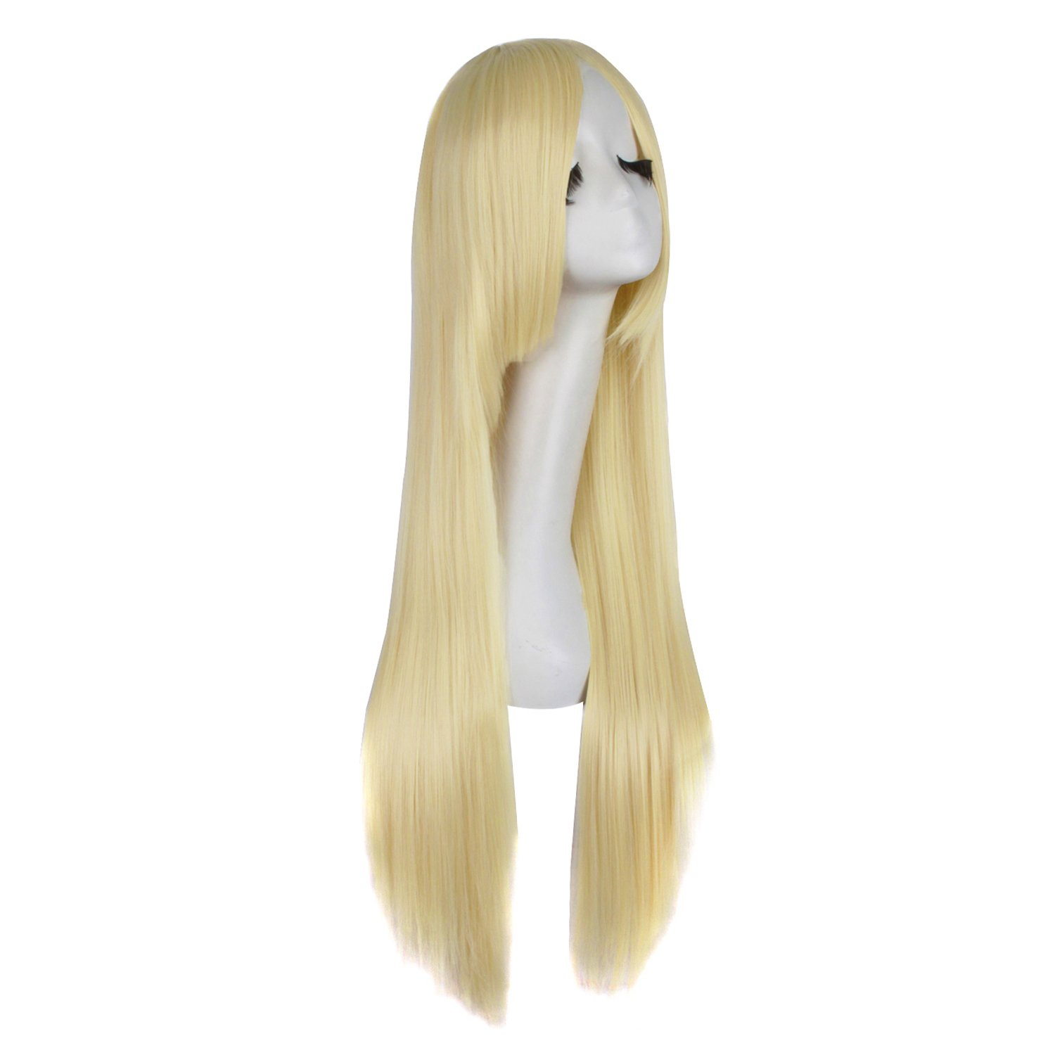 MapofBeauty 32 80cm Long Straight Anime Costume Cosplay Wig Party Wig Dark Brown