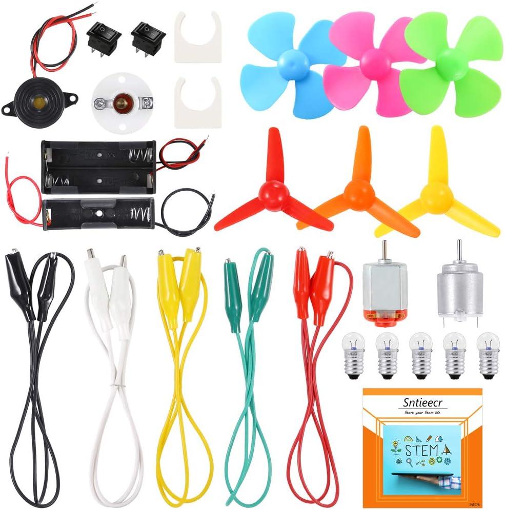 Sntieecr Kit de Motor de Circuito Eléctrico, Kits de Aprendizaje Educativo y Experimentos Científicos para Niños DIY Stem Proyecto de Ingeniería