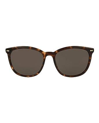 62e48c4a50 Amazon.com  Gucci Womens Square Rectangle Sunglasses GG0196SK-30001765-002   Clothing
