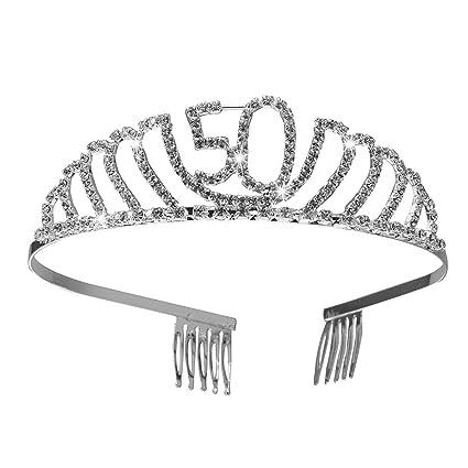 Frcolor Corona Cumpleaños 50 Años Diadema Cumpleaños Mujer ...