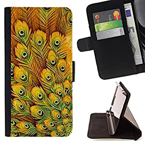 Jordan Colourful Shop - yellow eye bird pattern For Apple Iphone 5 / 5S - Leather Case Absorci???¡¯???€????€?????????&Atil