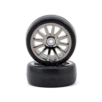Slick Tires and 12-Spoke Black Chrome Wheels, Mounted (2): LaTrax Rally: Sports & Outdoors [5Bkhe0504351]