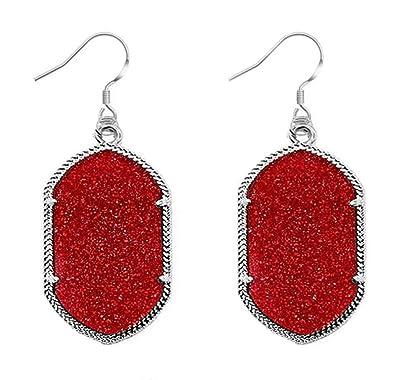 Amazon com: SZGJ Ladies Fashion Fluorescent Geometry Diamond