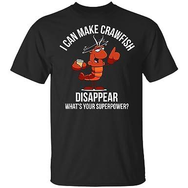 885a3112 Teechopchop I Can Make Crawfish Disappear, Crawfish Boil Gift, Beer Cajun  Cray T-Shirt   Amazon.com