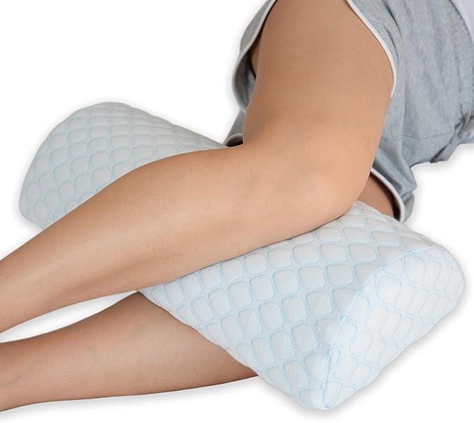Memory Foam Half Moon Bolster Knee Neck Roll Pillow Pain Relief Lumbar M8W3