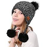 Color You Bluetooth Beanie Hat Women Knit Hat Cappellino Invernale con Cuffia Senza Fili Cuffie Altoparlante Mic