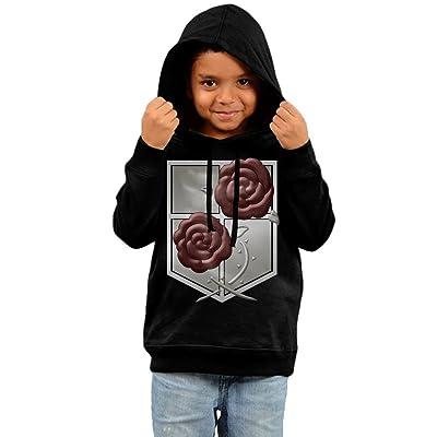 KYY Kid's Attack On Titan Garrison Unisex Hooded Sweatshirt Black