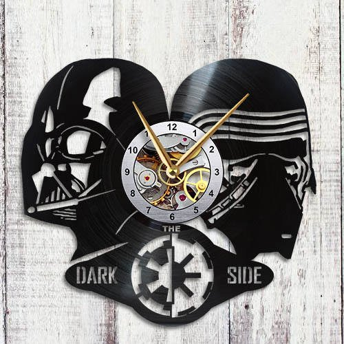 Star Wars Darth Vader Kylo Ren Design Vinyl Record Wall Clock Unique gifts for him her Gift Ideas for Mothers Day Father birthday anniversary wedding cute and funny original gifts for everybody